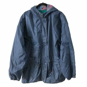 Vintage Fleece Lined Windbreaker Jacket Large